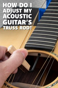 How do I adjust my acoustic guitar's truss rod?