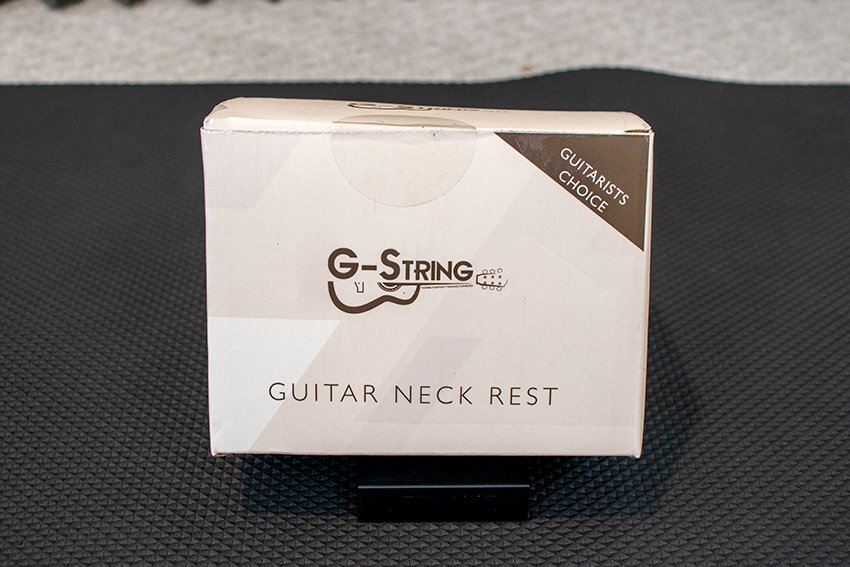 G-String Music's Guitar Neck Rest Box, Front