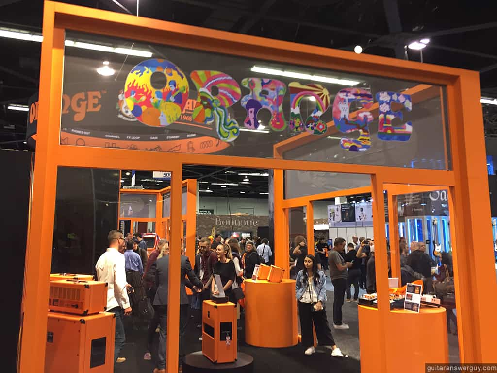 The Orange Amplification booth at NAMM 2020