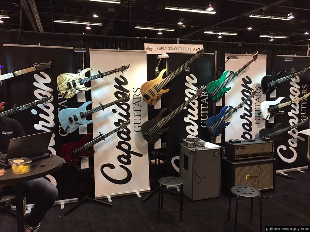 The Caparison Guitars booth at NAMM 2020