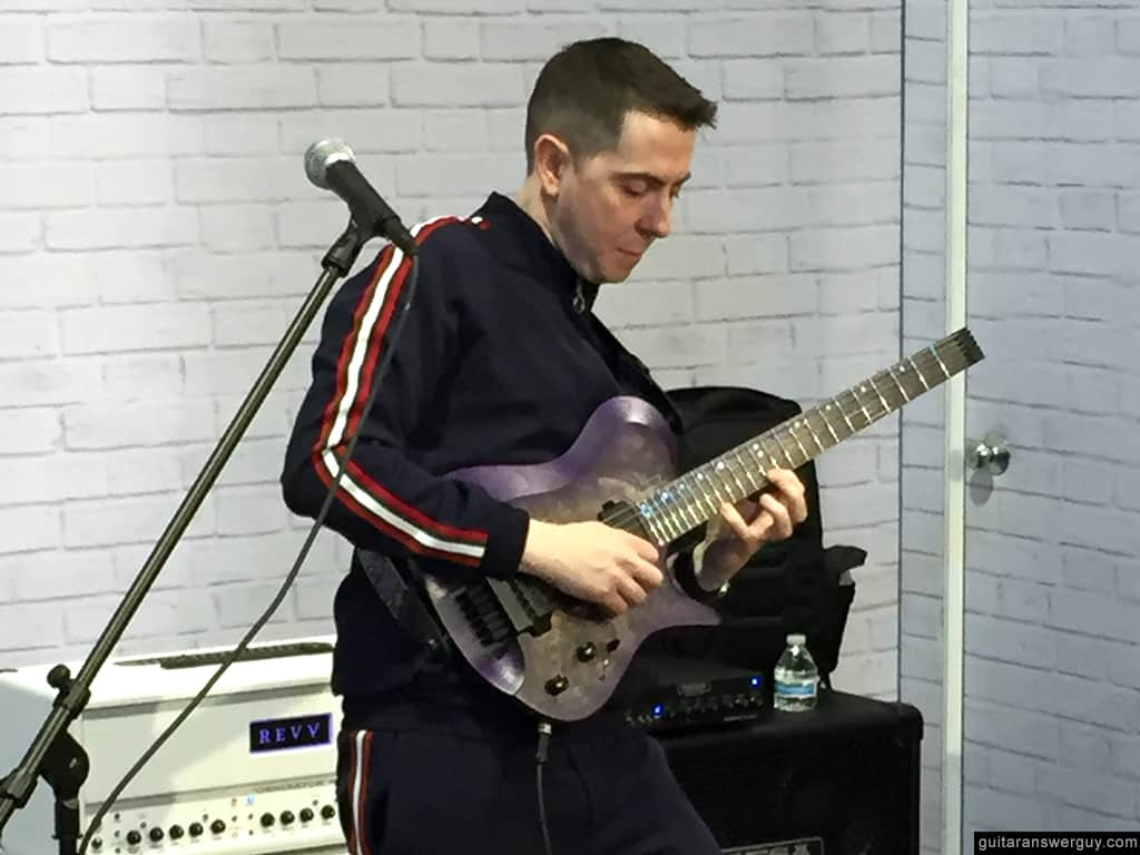 Thomas McRocklin performing at NAMM 2020