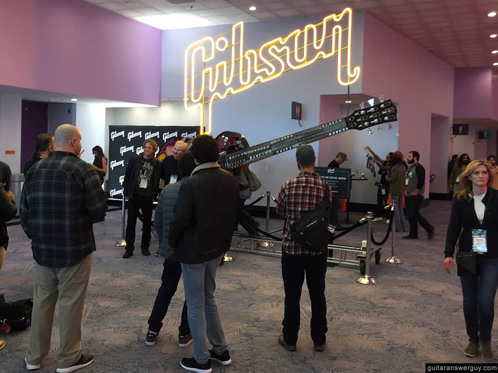 The Gibson Guitars exhibit rooms at NAMM 2020