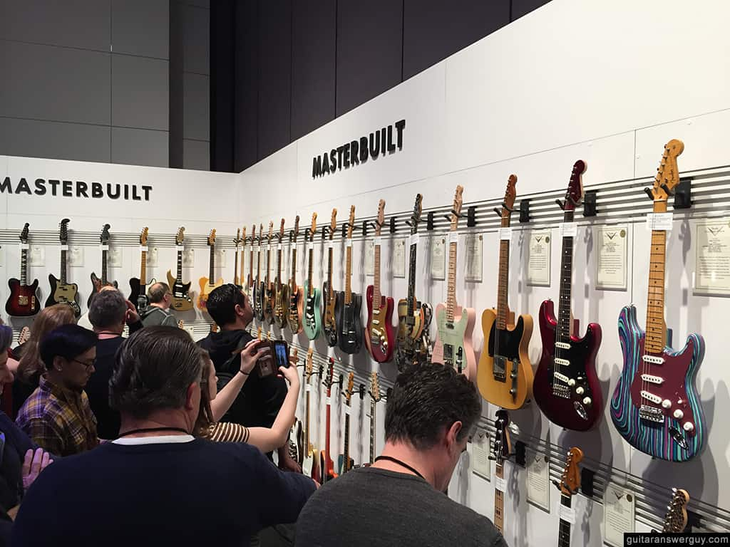 One of the Fender Guitars rooms at NAMM 2020