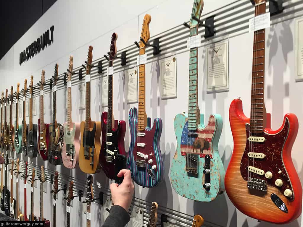 Fender Guitars exhibit at NAMM 2020