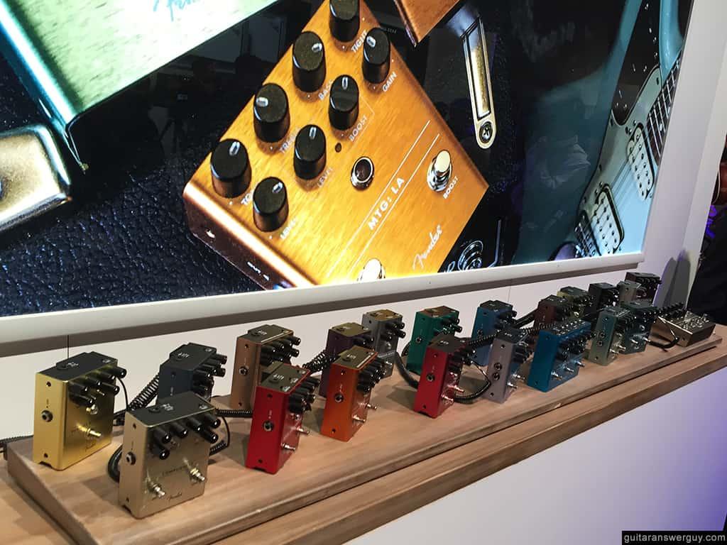 Fender pedals at NAMM 2020