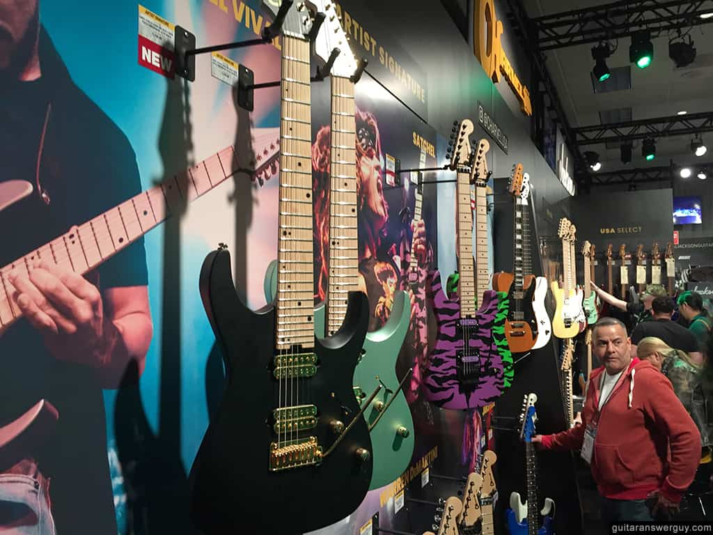 Charvel Guitars room at NAMM 2020