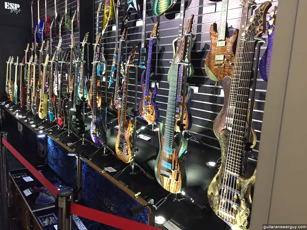 The ESP Custom Shop showcase at NAMM 2020