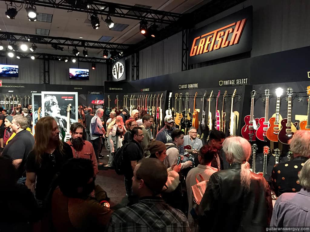 The Gretsch Guitars exhibit at NAMM 2020