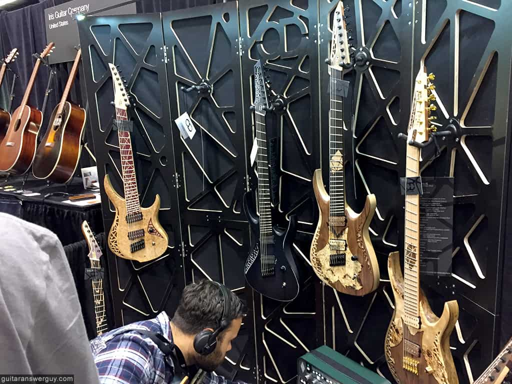 One of the vendors from the Botuique Guitar showcase at NAMM 2020