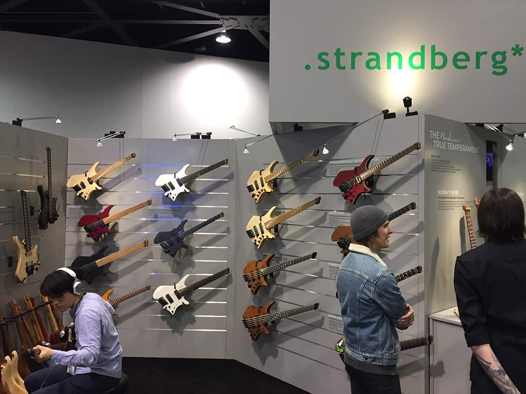 The Strandberg Guitars booth at NAMM 2020