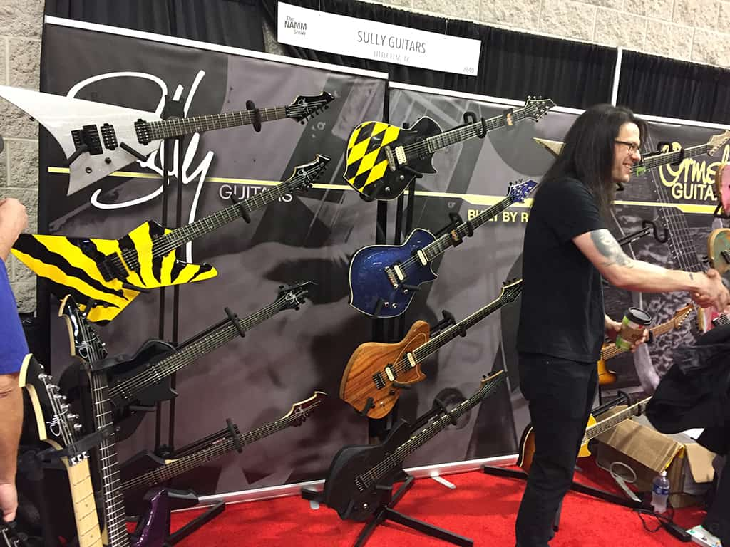 The Sully Guitars booth at NAMM 2020