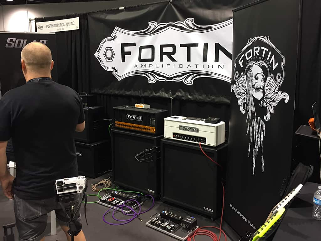 Fortin Amplification booth at NAMM 2020