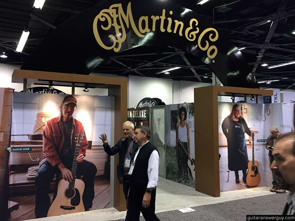 Martin Guitars booth at NAMM 2020
