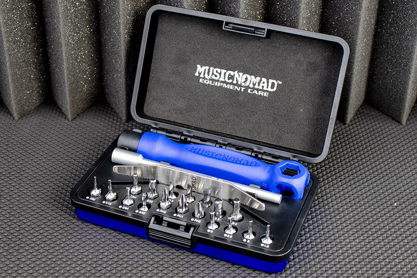 The Music Nomad Premium Guitar Tech Screwdriver and Wrench Set