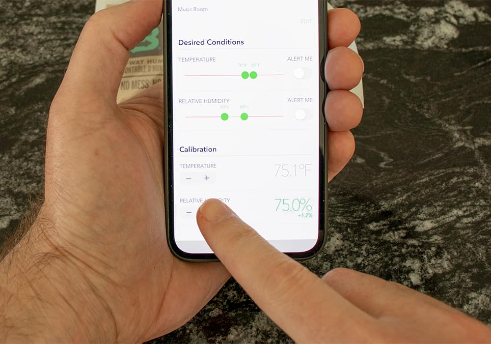 Calibrating the SensorPush HT1 wireless bluetooth hygrometer